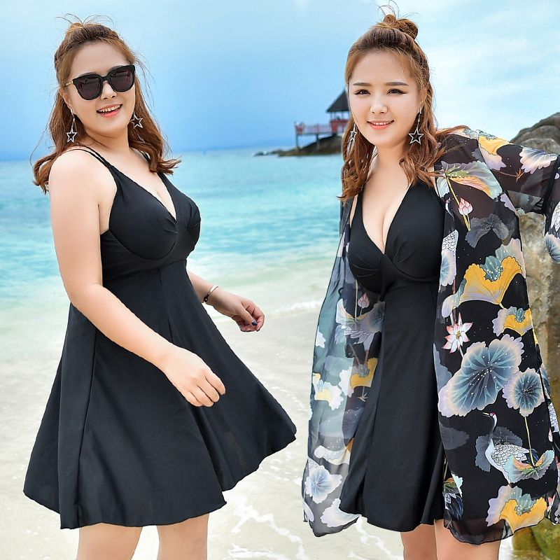 Large Size Summer Beach Push Up Swim Wear Women 2017 Newest Sexy Swimsuit Print Cover Up Beach Skirt Female 3XL-6XL Bathing Suit