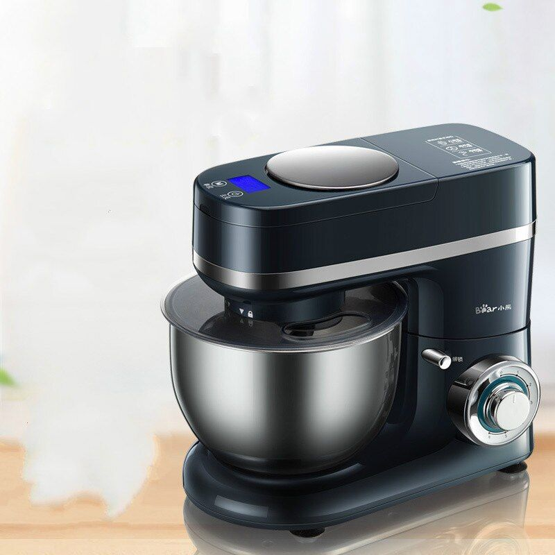 Bear Stand Dough Mixer Machine with Electric Scale Copper Engine Bread Making Machine Household Kitchen Aid Egg Beater Whisk