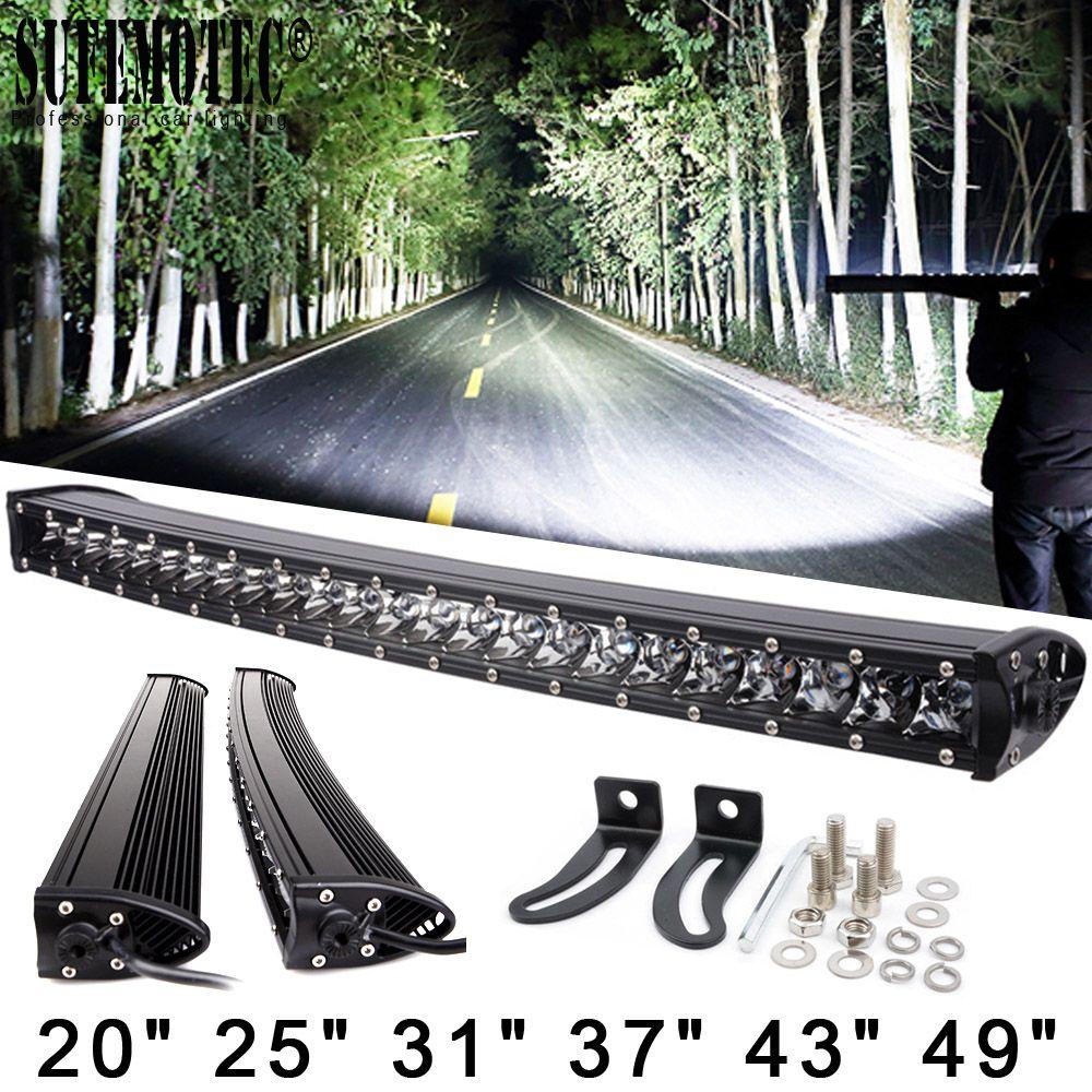 3D 120 W 150 W 180 W 240 W Super Schlank Einreihige Curved Led Light Bar Combo Balken Für 4x4 Offroad SUV 4WD ATV Fahren Arbeiten Lichter