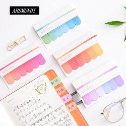 Gradiente lindo N veces Memo Pad notas adhesivas Post It Kawaii papelería Papeleria Material Escolar