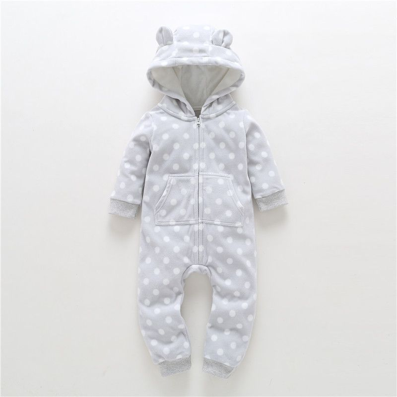 2018 New Limited Cotton Unisex Print Full O-neck Autumn Winter Baby Clothes Boy Overalls Newborn One Piece Romper Girl