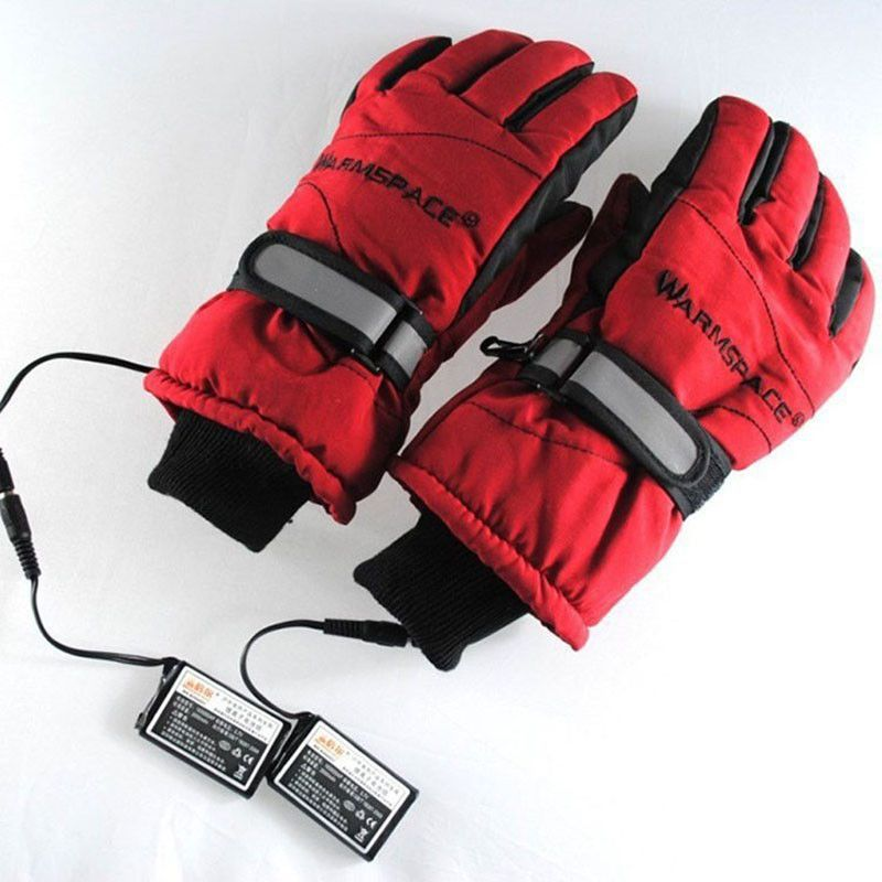 3.7V/2000MAH Electric Heating Gloves,Outdoor Sport Ski Motorcycle Lithium Battery Self Heated Gloves,Warm 3 hours