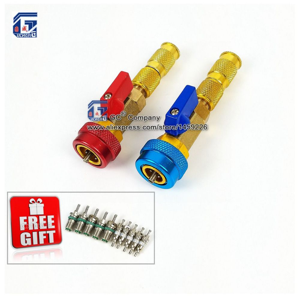R134a R12 Valve Core Remover Installer / Replace High Low Side Schrader Valve Repair Tools