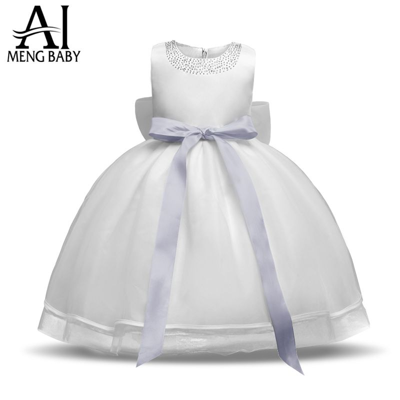 Newborn Dress For Baby Girl Toddler Christening Gown White Tutu Dresses For Girls 1 Year <font><b>Birthday</b></font> Gift Infant Ceremonies Clothes