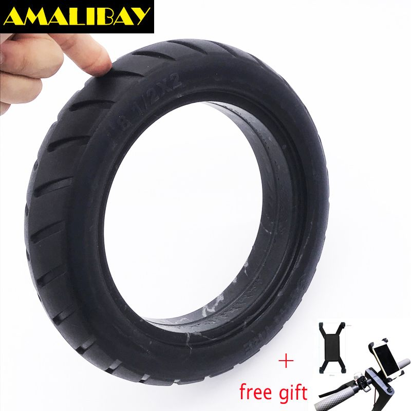 Scooter <font><b>Tire</b></font> Vacuum Solid Tyre 8 1/2X2 for Xiaomi Mijia M365 Electric Skateboard Skate Board Non-Pneumatic Tyre Durable / Holder