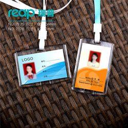 Transparent Acrylique Cristal Carte D'identification Personnel nom badge D'accès de Carte D'IDENTITÉ badge Exposition avec cordons (taille standard)
