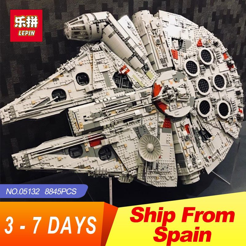 Lepin 05132 Star Destroyer Millennium Falcon LegoINGs 75192 Bricks Model Building Blocks Educational Toys WARS