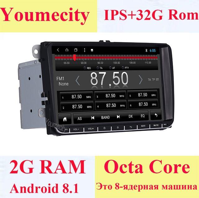 Youmecity Android 8.1 Auto DVD Video Gps-player für VW Volkswagen Transporter T5 EOS Touran Scirocco Sharan Bora Jetta Kopf Einheit