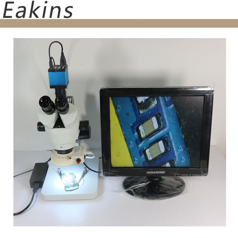 7-90X Continuous zoom binocular visual Trinocular stereo microscope+14MP HDMI USB TF Card industry camera for motherboard repair