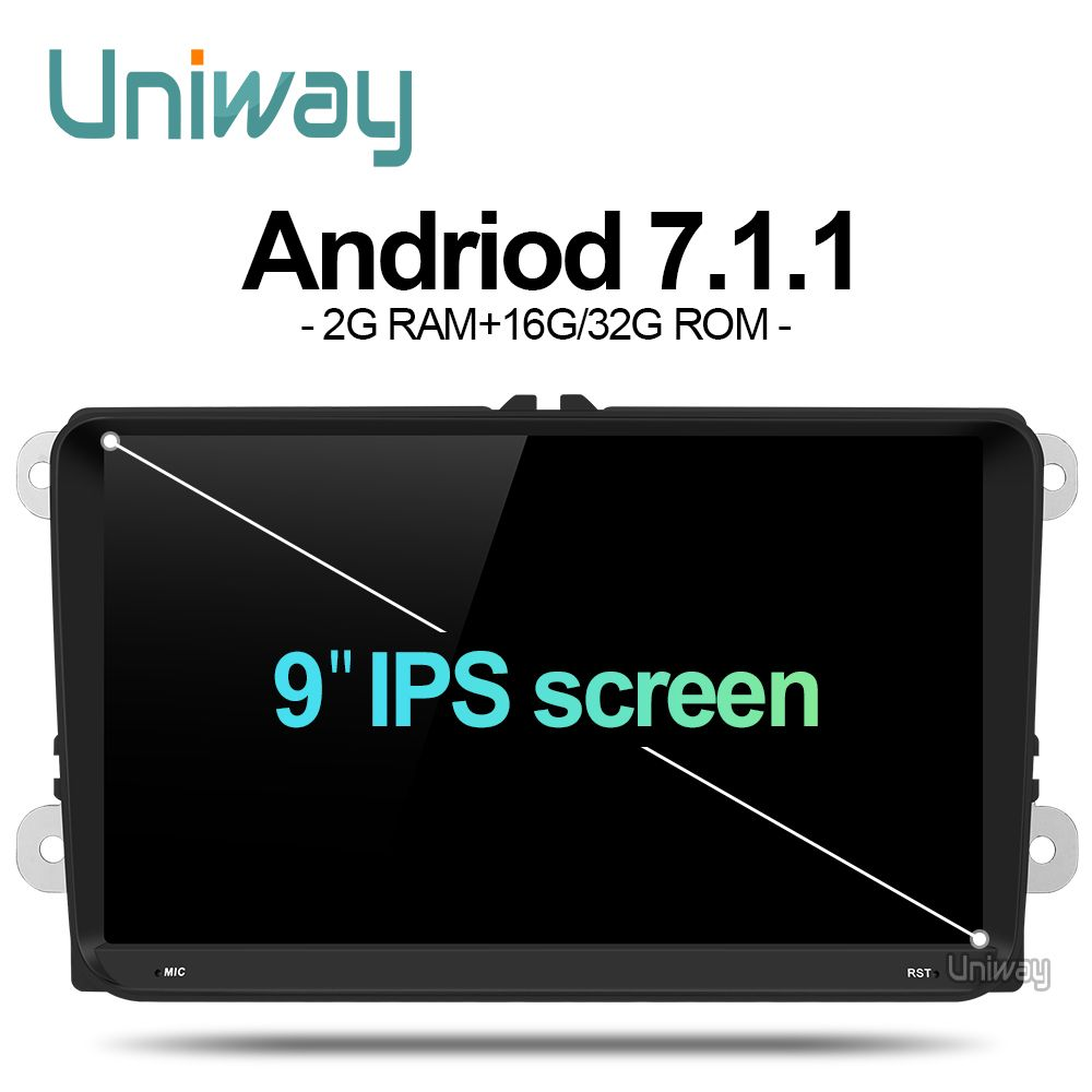 uniway ADZ9071 android 7.1 car dvd for vw passat b5 b6 golf 4 5 polo tiguan octavia rapid fabia with steering wheel
