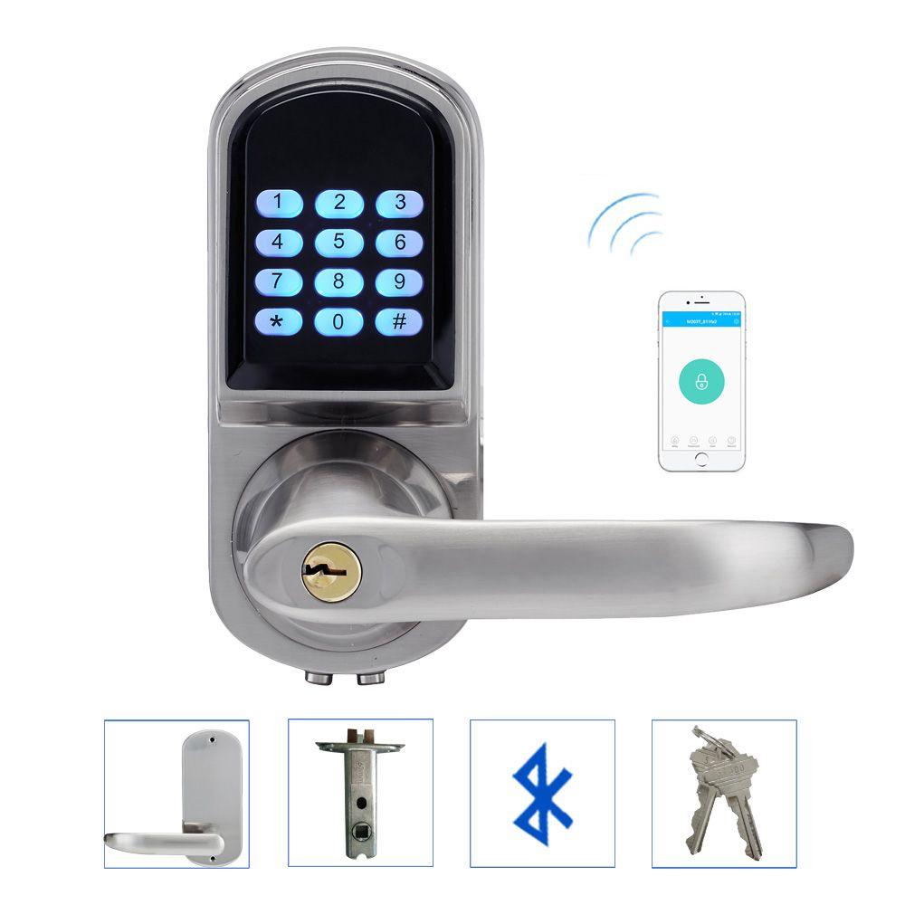 Contrôle électronique d'app de serrure de porte de Bluetooth, mot de passe, clavier à clé mécanique serrure à Code numérique téléphone intelligent lk200AP