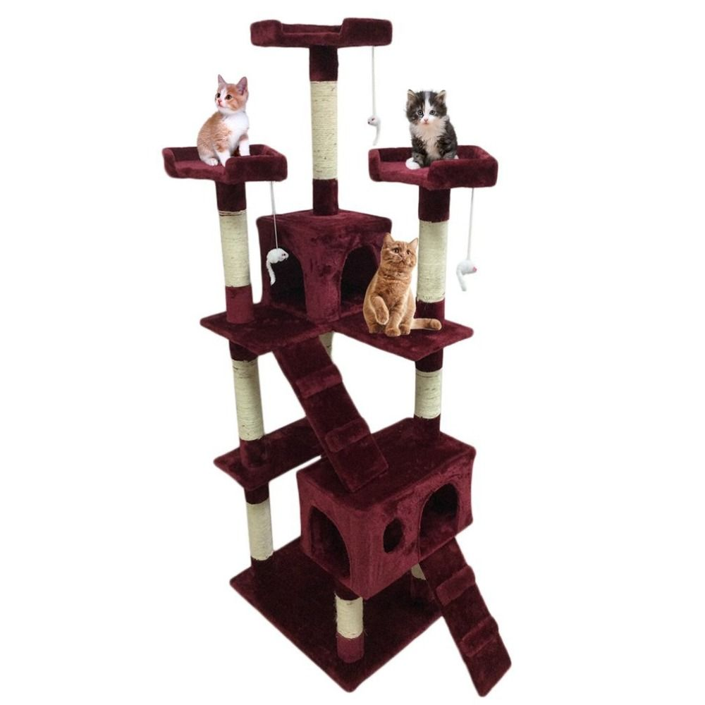 Funny Post Activities Centre Toys Pet Protect Activity Centre Cat's Tree House Pets Playing Climbing Furniture