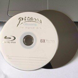 Wholesale 10 discs A+ Picasso 6x 25GB Blank Printed Blu Ray BD-R Disks