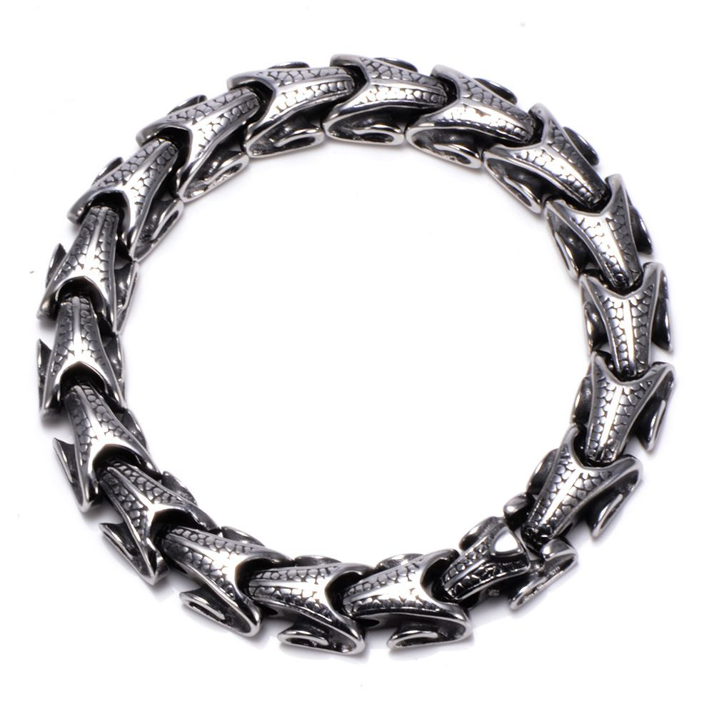 Cool Stainless Steel Dragon Grain Bracelets Men New Arrival Personality Keel Mens Bracelets & Bangles For Man Jewelry