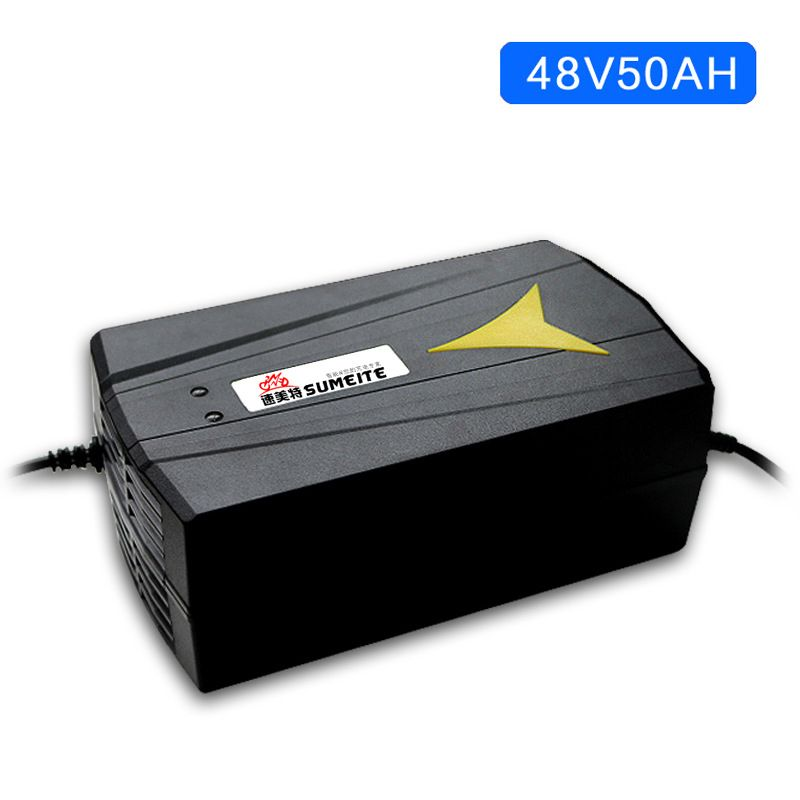 EU/US Standard 48V Charger Lead Acid Smart Auto Electric Scooter Battery Charger Power Supply 48V 50AH 5.5A AC 220V 195*115*80mm