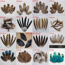 20 pcs 15 sortes de naturel faisan poulet plumes d'oie plume Parti Vêtements Accessoires BRICOLAGE Artisanat décoration