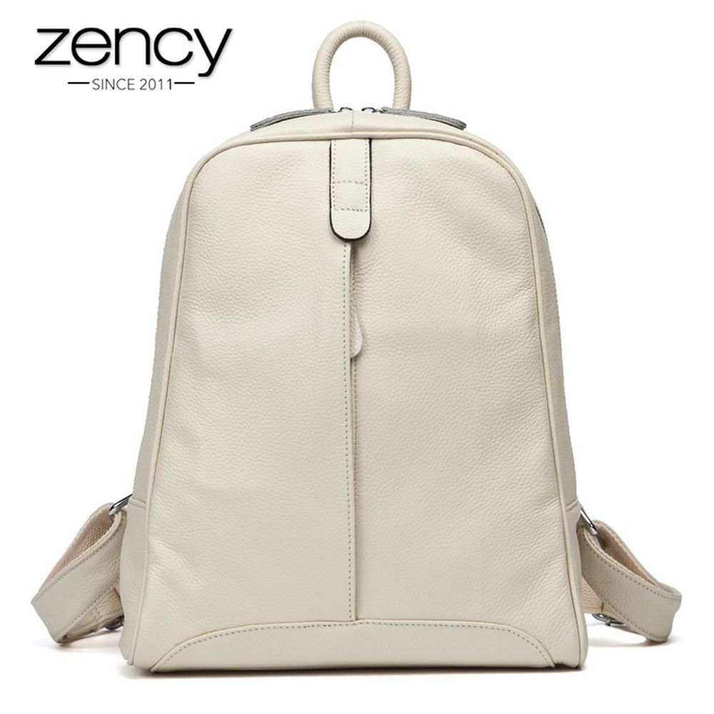 10Cls Fashion 100% Real Soft Genuine Leather Women Backpack Female Popular Style Ladies Laptop Bag Girls Notebook Mochilas Mujer