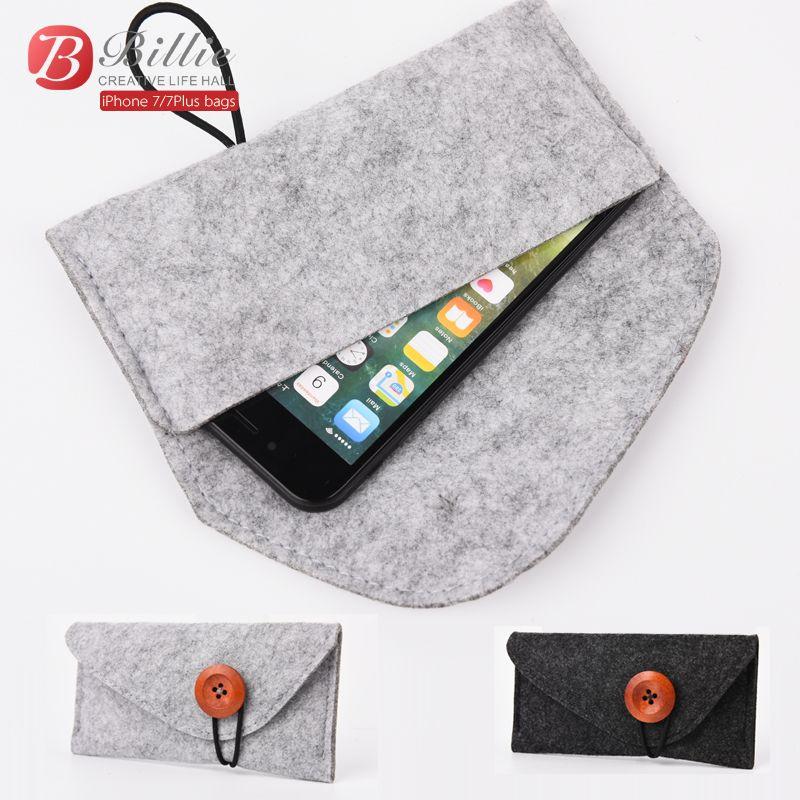 2017 Original pour apple iphone 7 Plus pochette en feutre de laine sac de protection pour iphone 8 plus 5.5