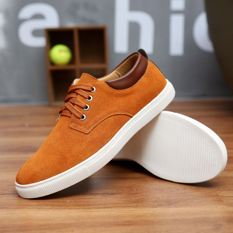 2017 New Fashion Autumn/Winter Suede Men Shoes Men Canvas Shoes Leather Casual Breathable Shoes Flats Big Size 38-49 Free Ship