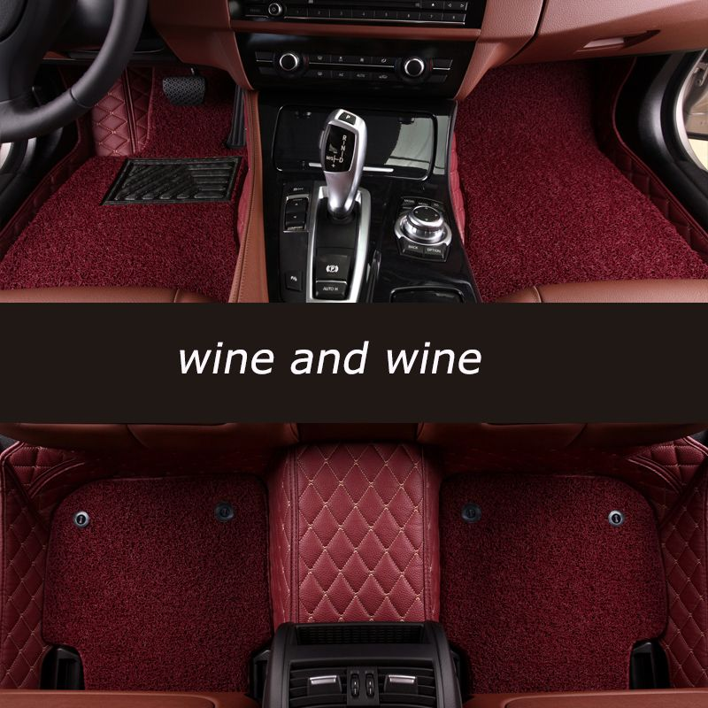 kalaisike Custom car floor mats For Porsche All Models Cayman Cayenne Macan Panamera Boxster 718 car styling accessories
