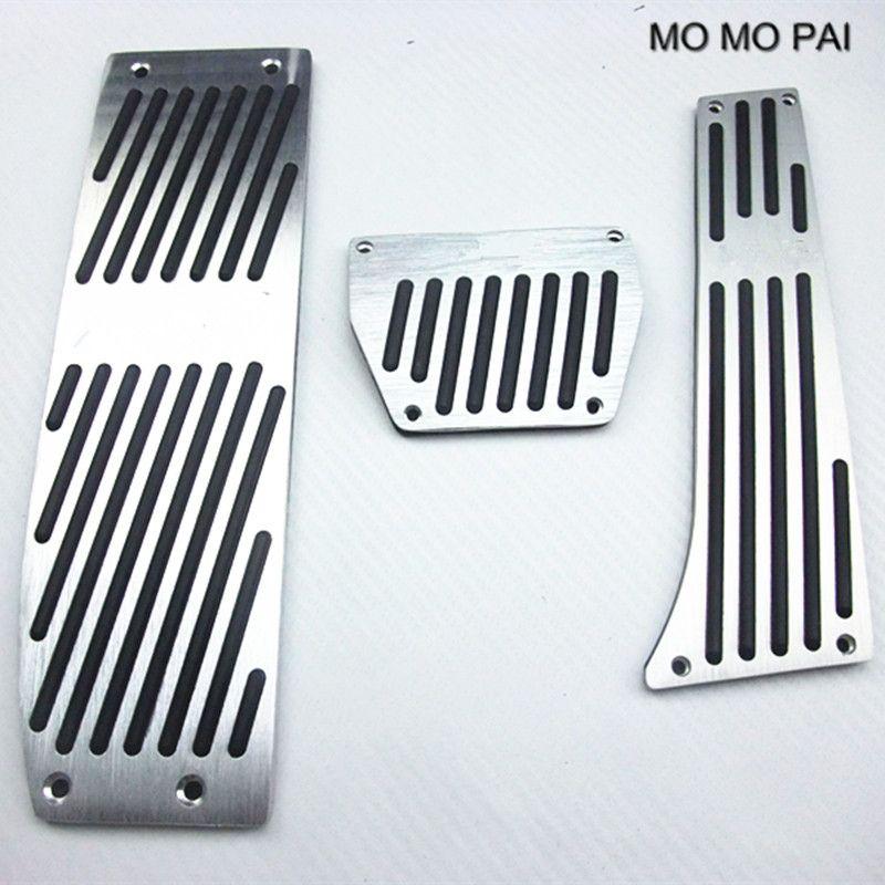 MOMO PAI Car Accessory Automatic MANUAL Pedals fit for BMW 128 135 318 320 325 328 330 335 X1 E36 E46 E90 M-Tech SILVER / Black