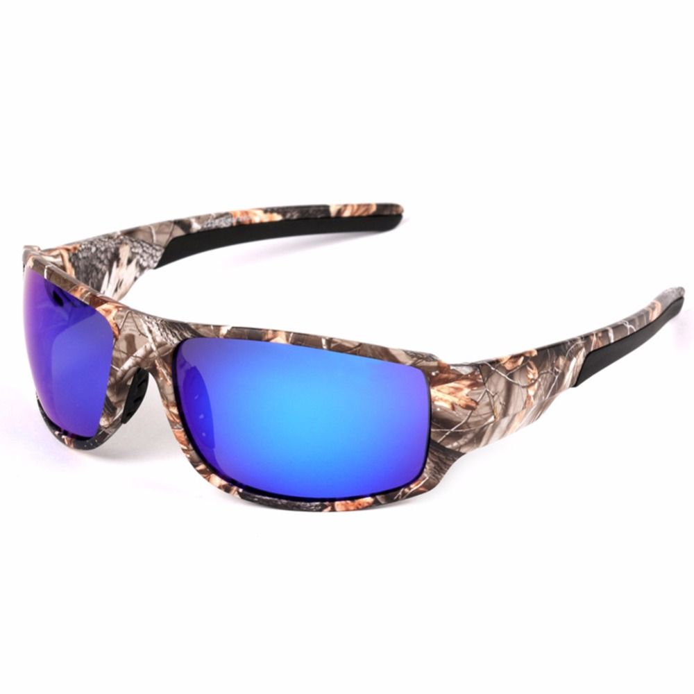 LumiParty Outdoor Sport Fishing Sunglasses with Camouflage Frame Polaroid UV400 Glasses for Men's Fishing Hunting Boating