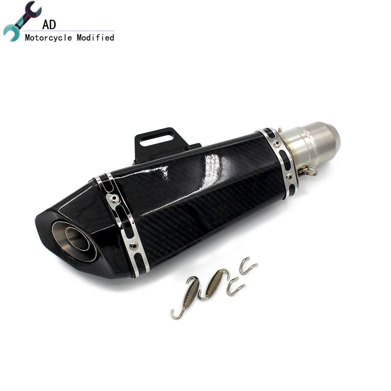 AD 51MM Exhaust Pipe All Carbon Fiber For Kawasaki Z900 2017 - 2018 Motor Muffler Motocross Z 900 17 18 Motorcycle Accessories !