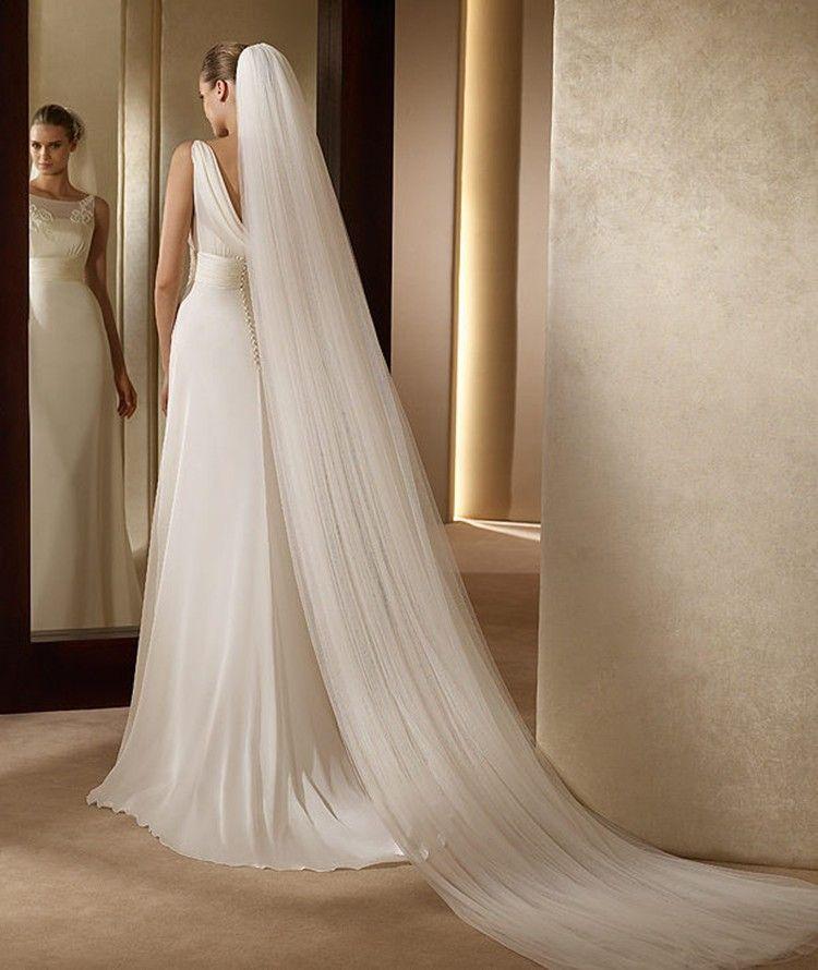 NZUK élégant accessoires de mariage 3 mètres 2 couche voile de mariage blanc ivoire Simple voile de mariée avec peigne mariage voile offre spéciale