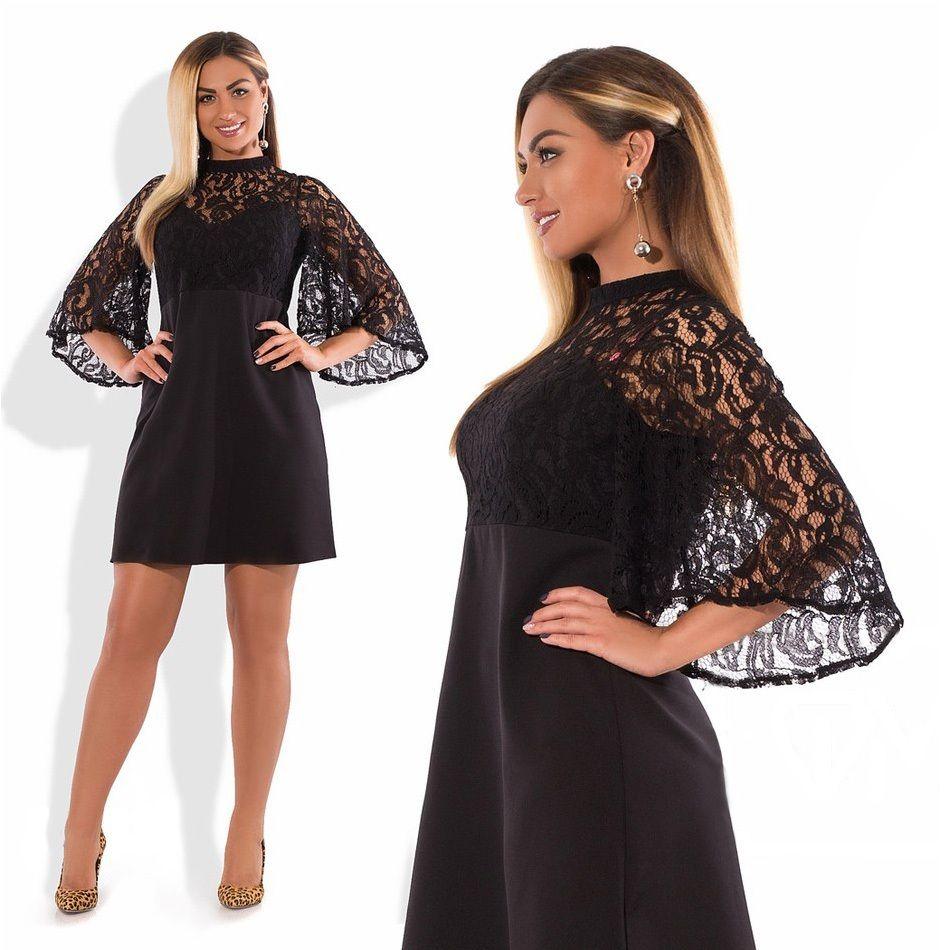 2018 плюс Размеры Платье Flare рукавом Мини Летнее платье сексуальное платье 5XL 6XL БОЛЬШОЙ Для женщин Кружево черное платье vestidos