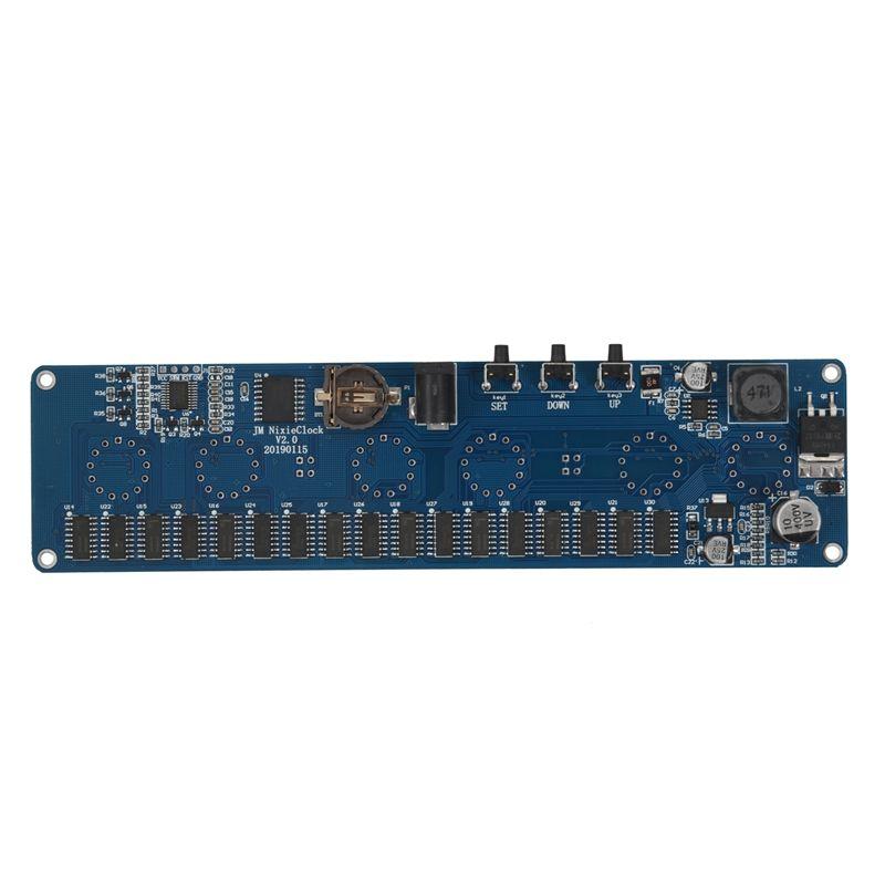 Bricolage in14 in4 Nixie Tube horloge LED numérique cadeau circuit imprimé kit PCBA, pas de tubes