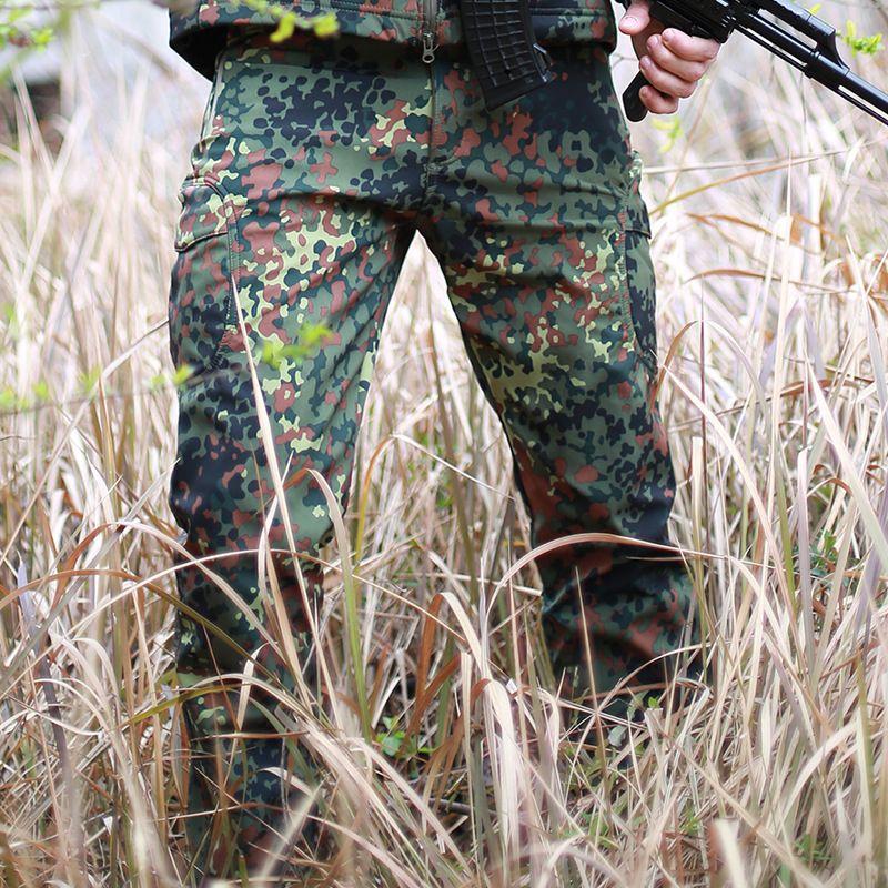 Winter Shark Skin Soft Shell Tactical Military Camouflage Pants Men Windproof Waterproof Warm Camo Paintball Army Fleece Pants