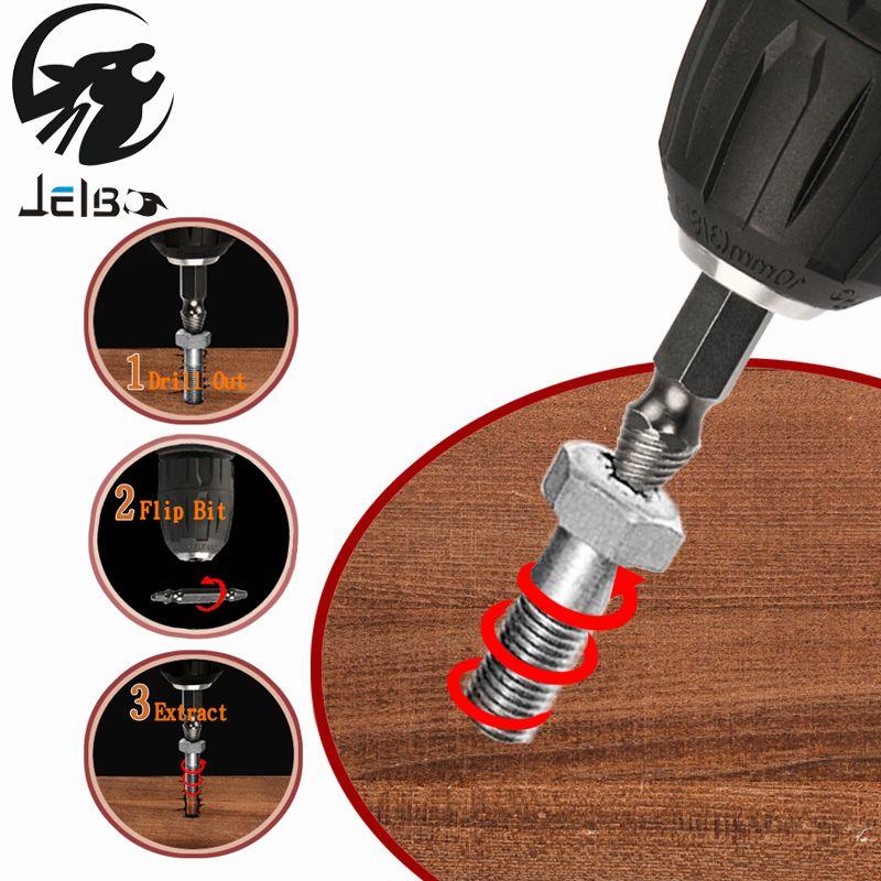 Jelbo Schrauben Entfernen Abbruchwerkzeuge Schraube Extractor Drill Bit Set Kit Bohrer Elektrowerkzeuge Zubehör Schraube Extractor