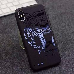 Relief Simple Noir Cas de Téléphone pour Apple iPhone X 6 6 S 7 8 Plus Superman Batman Souple TPU Couverture Coque Homme Cadeau Dragon Tigre Shell