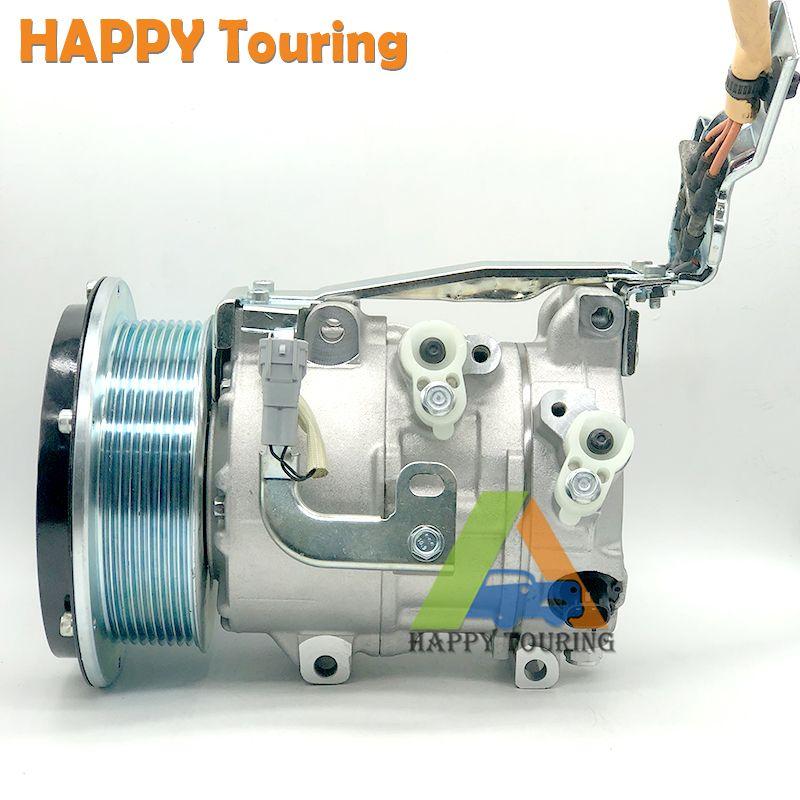 6SEU16C auto kompressor 88310-58011 447190-3340 CMP1746 8831058010 4471807483 für Toyota Alphard 2,4 Hybrid 9PK AC Kompressor