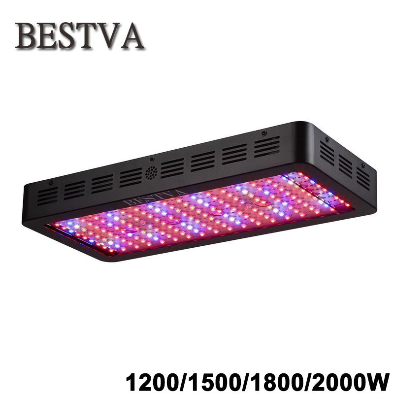 BestVA Black 1200W 1500W 1800W 2000W Full Spectrum led light for grow <font><b>tent</b></font> box greenhouse led grow light seedlings flowers