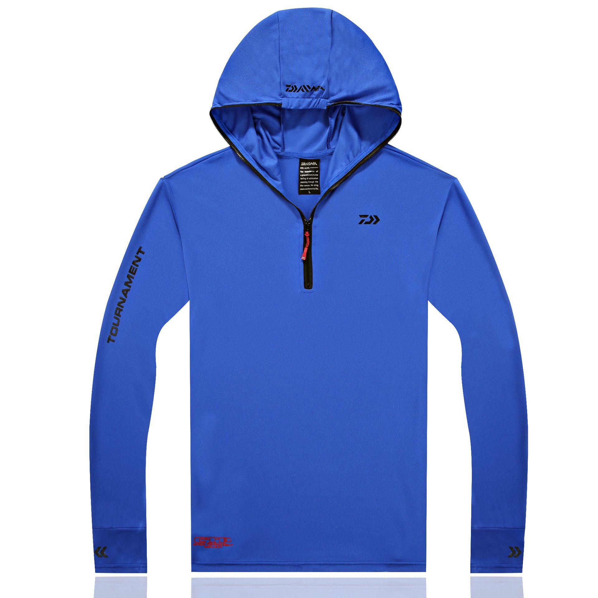 2017 Fishing Shirt  Clothing Breathable Sunscreen Shirt Men Quick Drying UPF 50+ Long Sleeve Hooded Fishing Shirts