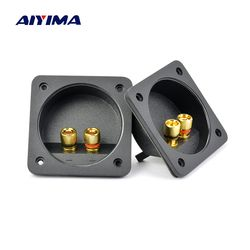 Aiyima 2Pcs ABS Plastic Gold Plated Copper Terminal Board Enthusiasts 80x80MM DIY Speaker Junction Pull Box