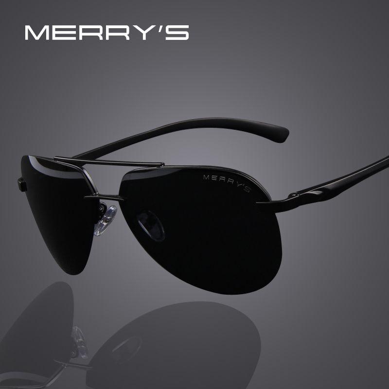 MERRY'S marque hommes 100% lunettes de soleil polarisées en alliage d'aluminium lunettes de soleil mode hommes conduite lunettes de soleil S'8281