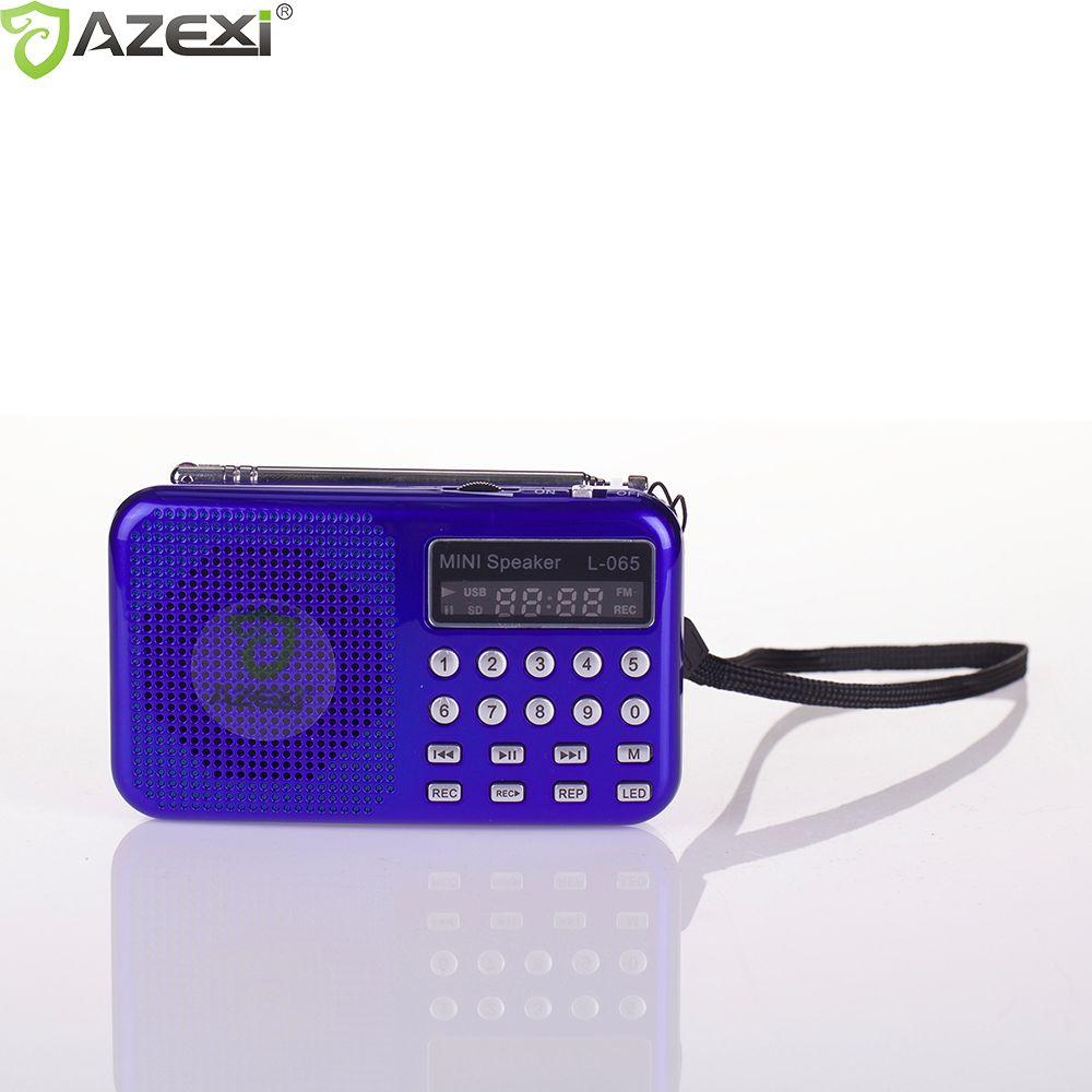 3 Couleur Mini Dual Band Rechargeable Numérique LED Affichage Panneau Stéréo FM Radio Haut-Parleur USB TF Mirco L-065 pour Carte SD MP3 lecteur