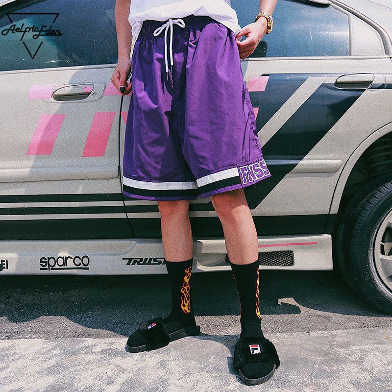 Aelfric Eden Striped Color Block Shorts Men Fashion Short Jogger Streetwear Hip Hop <font><b>Track</b></font> Shorts Casual Thin Beach Shorts Fs19