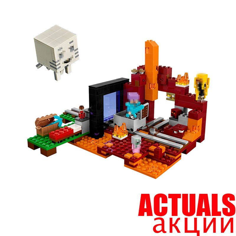 2018 Minecraft LEPIN My World The Nether Portal Polar Igloo Chicken Coop Fight Building Blocks Brick Toys Compatible legoingly