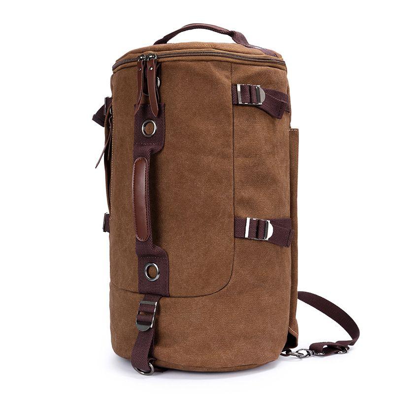 2017 Marca de Alta Capacidad paquete de Cilindro Bolsa de Viaje Nueva Llegada Multifunción Rusksack Masculina Moda Mochilas bolsas de viaje