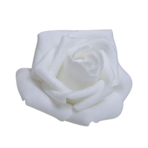 100 pièces mousse Rose fleur bourgeon décorations de fête de mariage fleur artificielle bricolage artisanat blanc