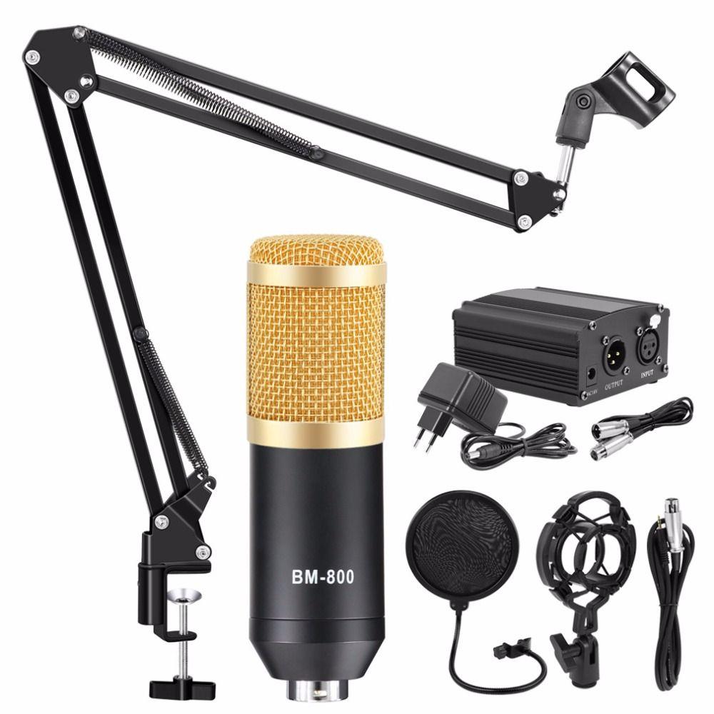 Bm 800 Kits de Microphone à condensateur réglable professionnel Microphone de paquet de Microphone de karaoké pour l'enregistrement de Studio d'ordinateur