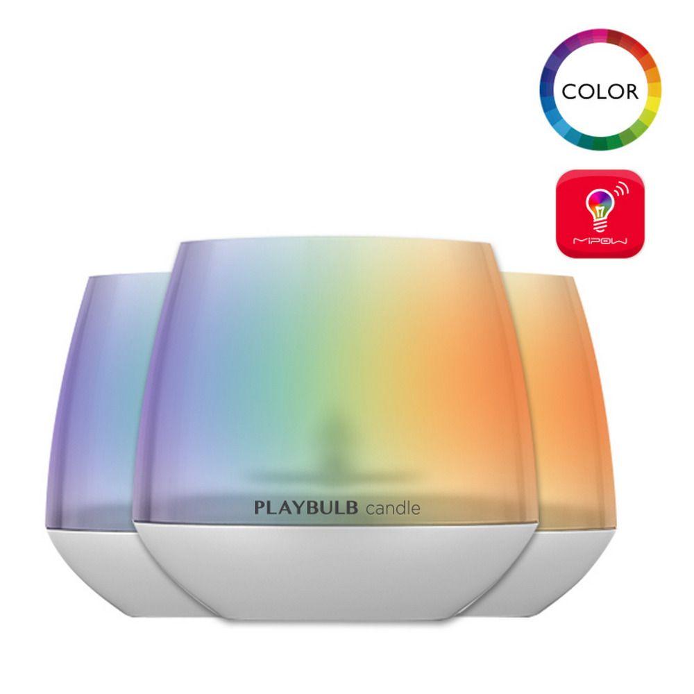 MIPOW 3 Pack ampoule intelligente RGB aromathérapie bougies lumière couleur sans flamme multi-couleurs APP télécommande