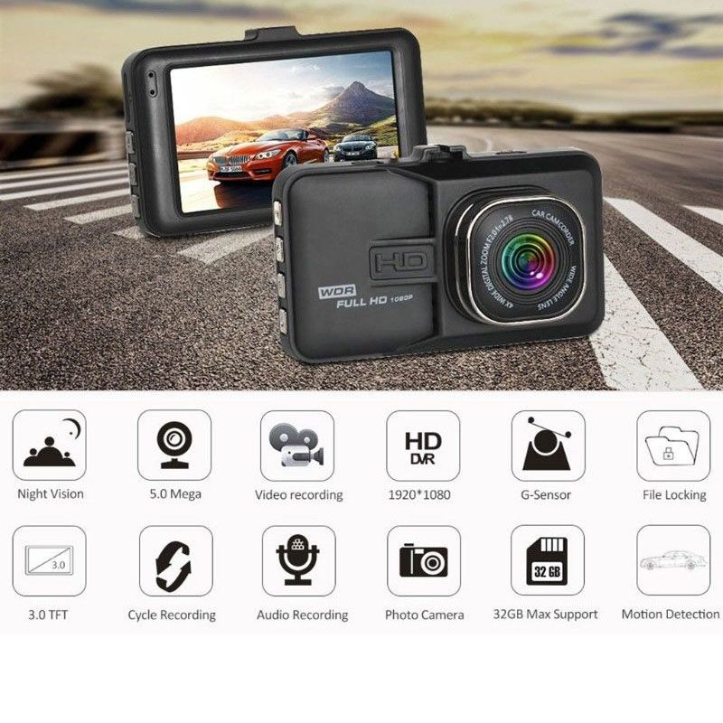 3 Inch Dash Camera Car DVR HD 1080P Recorder High Definition 170 Wide-angle Driving Recorder Car DVR Vehicle Dash