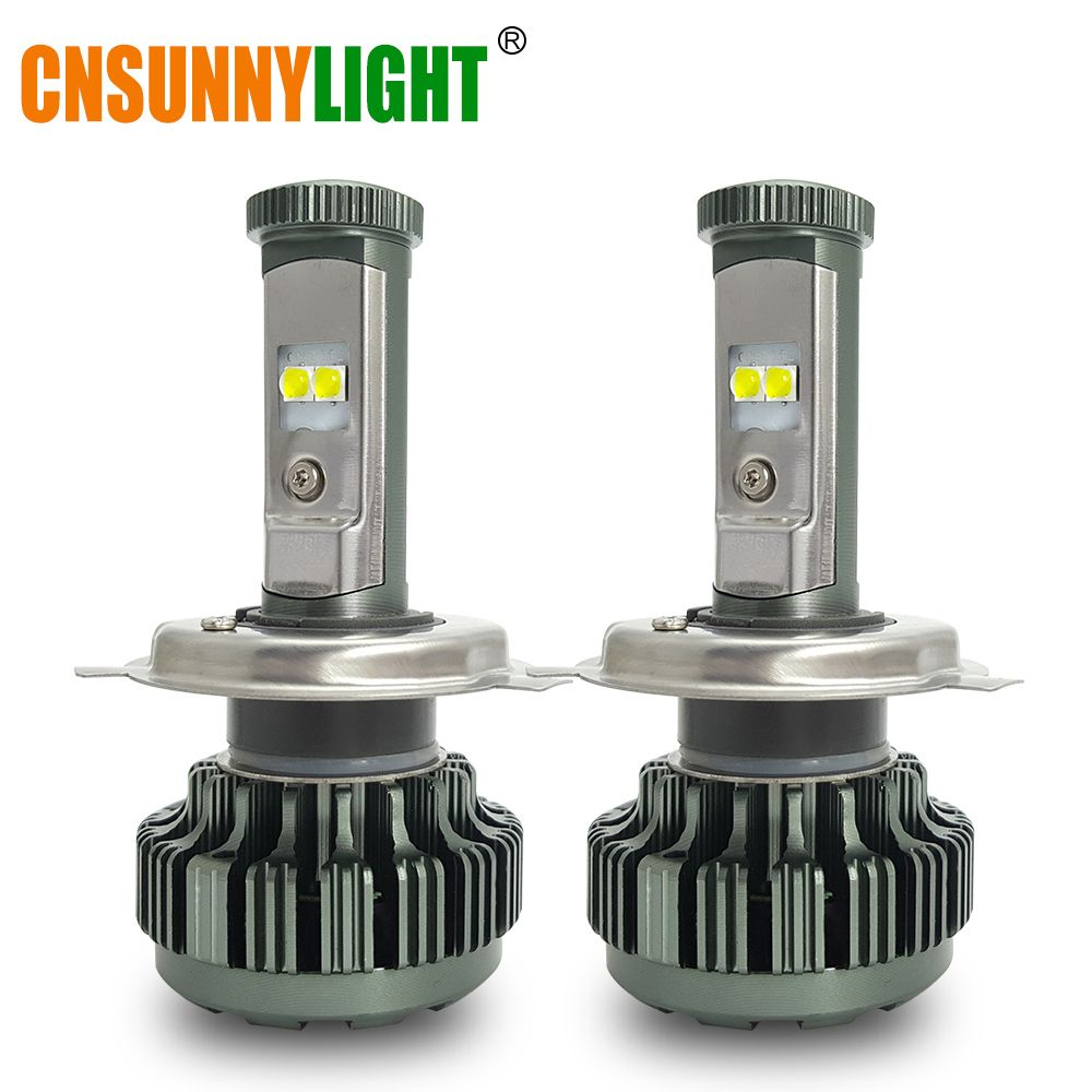 CNSUNNYLIGHT Car Led H4 H13 9004 9007 High Low Beam 8000Lm XP-L Chips Turbo Headlight Bulbs For Automotives Front Headlamp Light