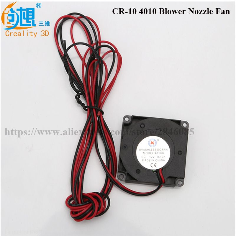 3D Printer Creality CR-10 Fan 4010 Blower 40MM 40x40x10MM 12V DC Cooler Small Cooling Fan FOR 3D PRINTER PART Creality CR-10