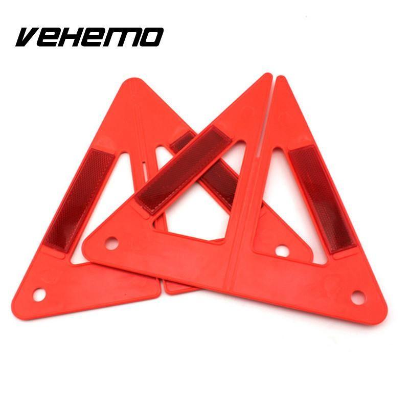 Vehemo Safety Sign Orangered Reflector Car Hazzard Tripod Foldable