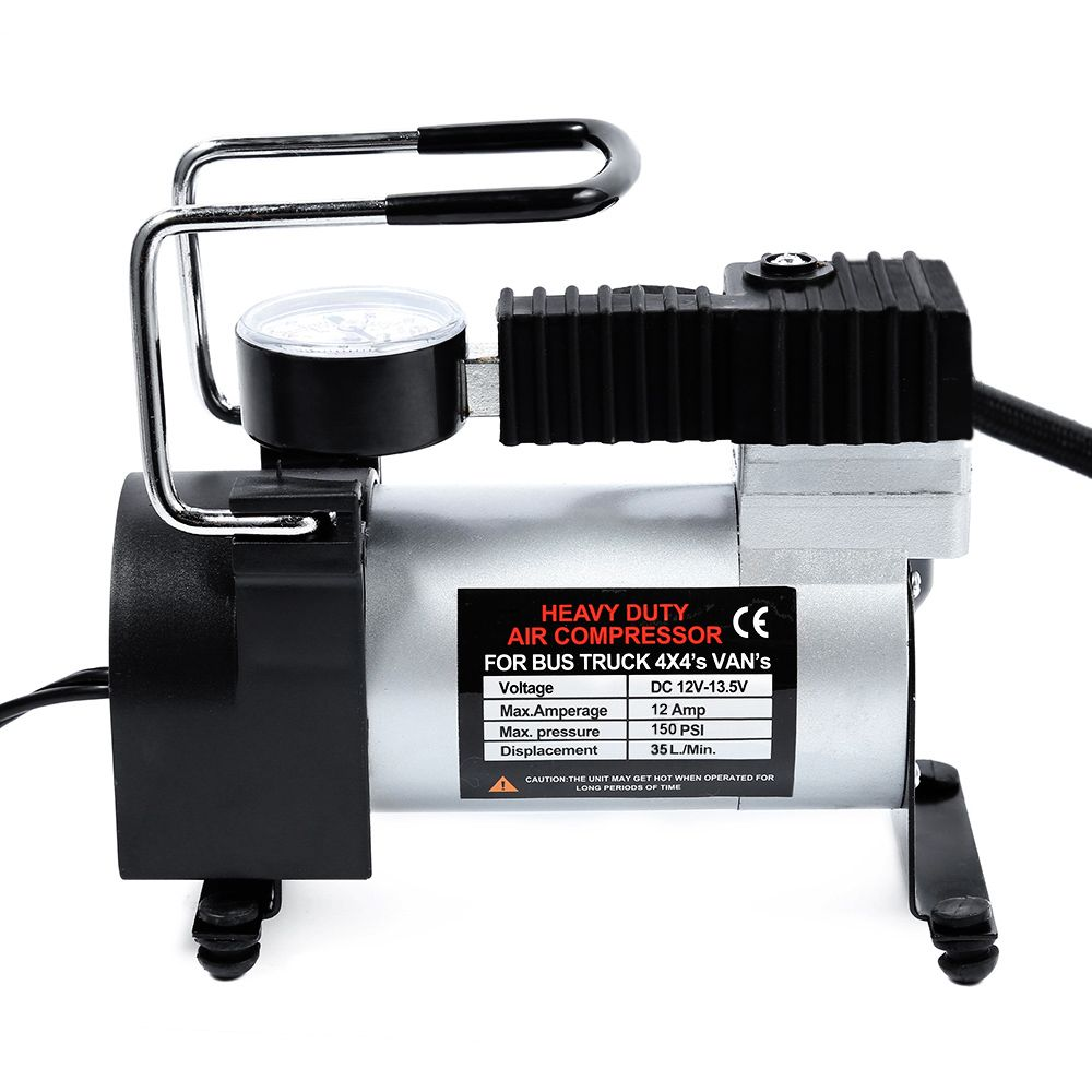 DC 12V Car Electric Inflator Pump Single-cylinder Auto <font><b>Tire</b></font> Air Compressor with Tyre Pressure Monitor